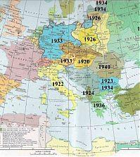 Политическая карта Европы. 1937 - 1939 гг.