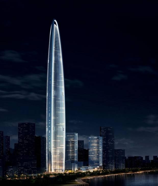 Конусообразная форма небоскреба