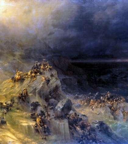 Иллюстрация Всемирного потопа